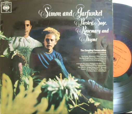 【英CBS】Simon & Garfunkel/Parsley, Sage, Rosemary and Thyme (マト1)
