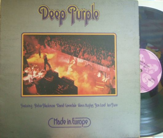 【英Purple】Deep Purple/Made In Europe (レアな顔レーベル)