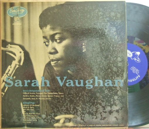 【米EmArcy mono】Sarah Vaughan/Same (Clifford Brown, Herbie Mann, Paul Quinichette, etc)