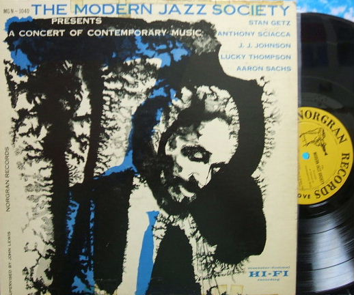 【米Norgran mono】Modern Jazz Society/A Concert of Contemporary Music (Stan Getz)