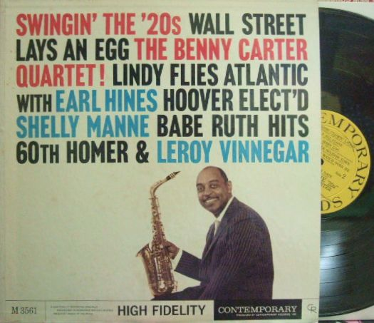 【米Contemporary mono】Benny Carter/Swingin' The 20's (Earl Hines, Leroy Vinnegar, Shelly Manne)