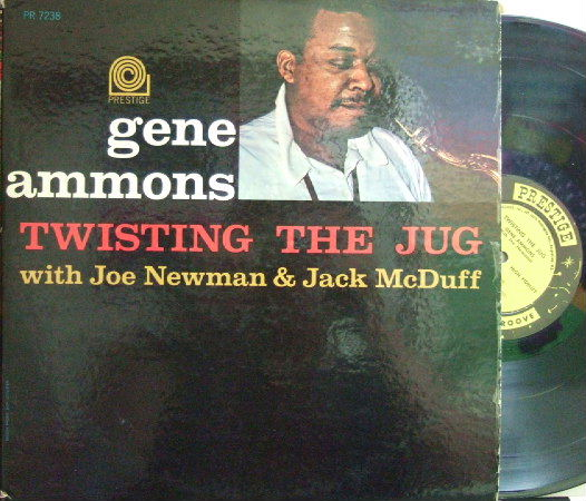 【米Prestige mono】Gene Ammons/Twisting The Jug (with Joe Newman & Jack Mcduff  (Walter Perkins, etc)