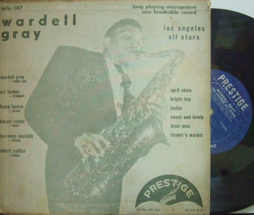 【米Prestige 10' mono】Wardell Gray/Los Angeles All Stars (Art Farmer, Hampton Hawes, etc)
