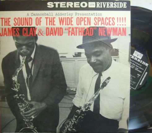 "【米Riverside mono】James Clay and David ""Fathead"" Newman/The Sound of The Wide Open Spaces (Wynton Kelly)"
