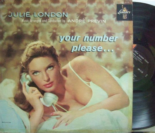【米Liberty mono】Julie London/Your Number, Please (Andre Previn)
