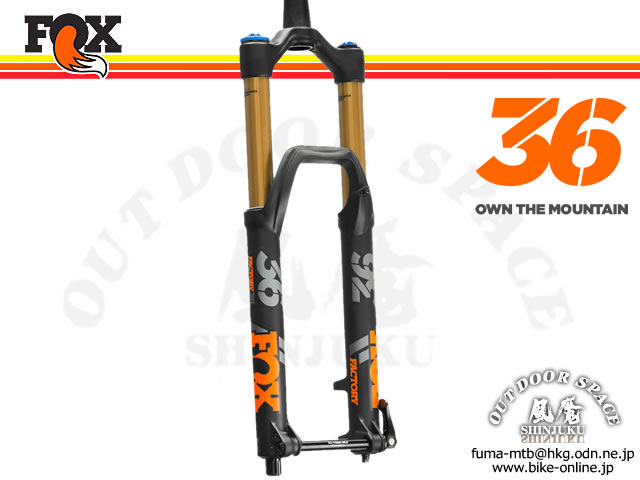 FOX RACING SHOX [ 2018 36 FLOAT 27.5 160 HSC LSC FIT Matte Black 15QRx100 1.5T 44mm ] FACTORY 【BIKE-ONLINE】  ※メーカー在庫より お取り寄せ