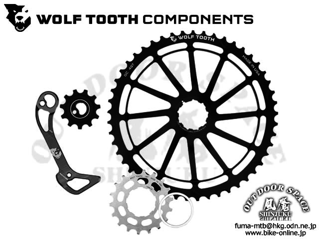 WOLFTOOTH [ 49T GC Cog for Shimano XT 11-speed ] 18tコグ付属、ウルフケージ、プーリーセット/Black 【風魔新宿】