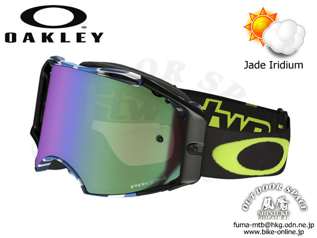 ※店頭対面販売限定品 OAKLEY [ AirBrake MX ] CHAD REED SIG. SERIES Speed Stripe / Prizm MX Jade Iridium 【GROVE青葉台】