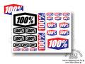 100% [ Decal Sheet ] 200×140mm ステッカー・シート 【風魔新宿】