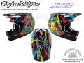 Troy Lee Designs [ D3 Carbon HELMET ] Blacklight Carbon Black��XL������ �����⿷�ɡ�