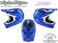 Troy Lee Designs [ D3 COMP HELMET ] Pinstripe 2 Blue Chrome��XL������ �����⿷�ɡ�