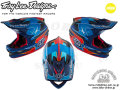 Troy Lee Designs [ D3 CARBON HELMET MIPS ] RENDER NAVY 【風魔新宿】 ※メーカーお取り寄せ