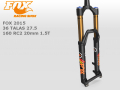 FOX RACING SHOX [ 2015 36 TALAS 27.5 160-120 RC2 15/20mm 1.5T ] FACTORY����� �����⿷�ɡ�