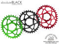 absolute BLACK [ SRAM OVAL Narrow-Wide Chainring ] 【風魔新宿】