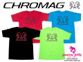 CHROMAG [ BEAR REFLECT Tee ]  Black/Wine red/Lime/Blue ȾµT����� �����⿷�ɡ�