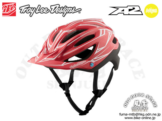Troy Lee Designs [ A2  Helmet Mips ] PINSTRIPE / Red/Black 【風魔新宿】