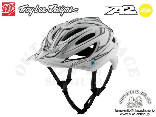 Troy Lee Designs [ A2  Helmet Mips ] PINSTRIPE / White/Ref 【風魔新宿】