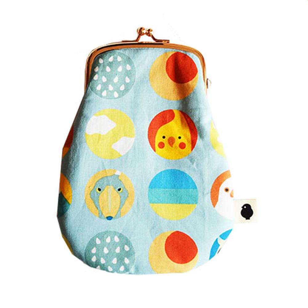 9996417【KOTORITACHI】卵がまぐち/小窓からことりたち・かめのぞき(水色)