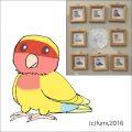 【Bird Island Cafe】★イラスト額/コザクラ・ルチノー