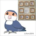 【Bird Island Cafe】★イラスト額/コザクラ・WFバイオレット
