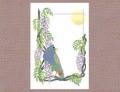 【あトリえ】鳥と花のポストカード0505/メキシコシロガシラ◆クロネコDM便可能