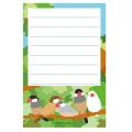 【FT&ぶんちょ屋】ブロックメモ帳/文鳥◆クロネコDM便可能