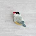 【小鳥雑貨はとはな】★小鳥ブローチ/文鳥