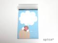 【spica*】メモパッド011・伝言/文鳥・シナモン◆クロネコDM便可能