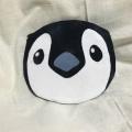 【トリずきん】★ポーチ・赤ストライプ/ペンギン◆クロネコDM便可能