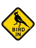 9992022【BMオリジナル】BIRD IN ステッカー オカメ◆クロネコDM便可能
