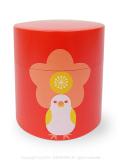 9994433【KOTORITACHI】茶筒/お花見文鳥 36554