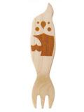 9995455【KOTORITACHI】木製フォーク/オカメインコ