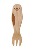 9995456【KOTORITACHI】木製フォーク/文鳥・白