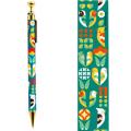 9996260【KOTORITACHI】レトロシャープペン/インコと花模様