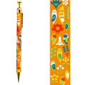 9996262【KOTORITACHI】レトロシャープペン/草花とインコ