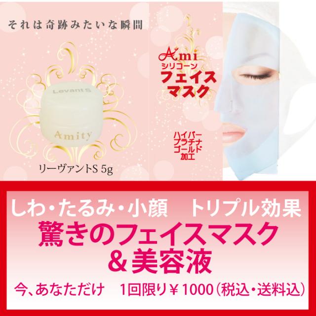 ビセキ  リーヴァント S 5g と フェイスマスクのお得なセット 塗ってつけるだけ 毒出し 【メール便でお届け 送料無料】