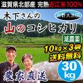 天水田 山のコシヒカリ 10kg×3袋