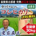 減農薬コシヒカリ 30kg 定期購入