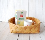 白樺の丸いパンかご L Φ30cm(EN作品)
