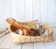 白樺の丸いパンかご XXL Φ40cm(EN作品)
