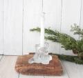 Royal Kronaガラス製 木の切り株キャンドルスタンド