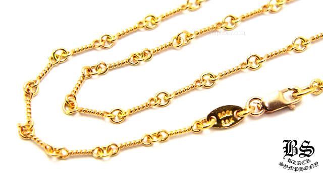 クロムハーツ ネックレス ツイストチェーン ゴールド 22K 18インチ(約45cm)