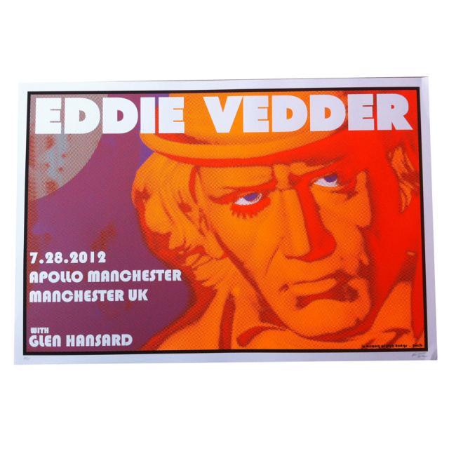 Frank Kozik(フランク・コジック) Eddie Vedder(エディ・ヴェダー):Manchester シルクスクリーンポスター