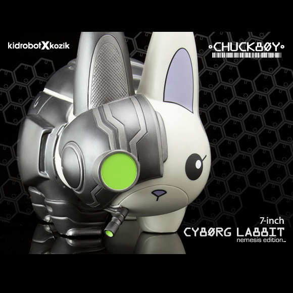 Frank Kozik x Chuck Boy x Kidrobot��Cyborg Labbit Nemesis Edition 7������ե����奢