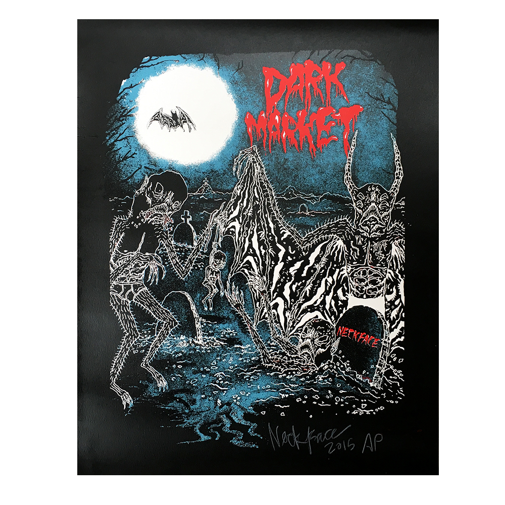 NECKFACE(ネックフェイス): DARK MARKET シルクスクリーンポスター