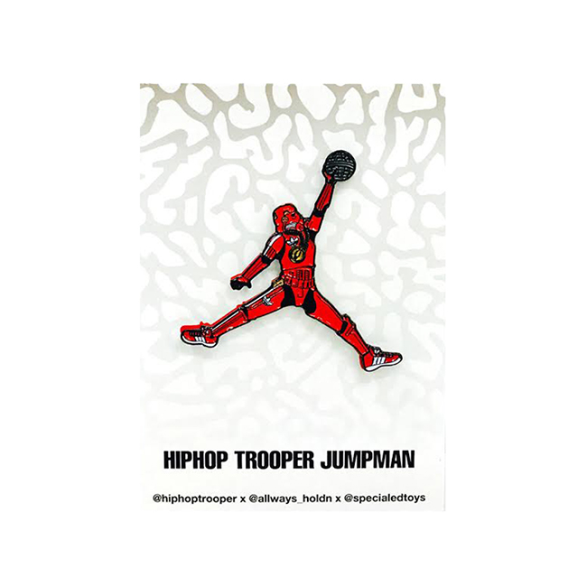 "Special Ed Toys:""Just Jumped Over Jumpman!"" Trooper ピンズ"