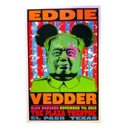 Frank Kozik(フランク・コジック) Eddie Vedder(エディ・ヴェダー):El Paso, Texas シルクスクリーンポスター