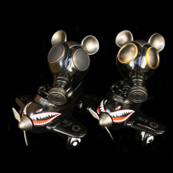 Ron English x BlackBook Toy( ロン・イングリッシュ) Mousemask Murphy in Airplane Shadow edition