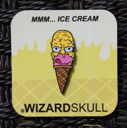 Wizard Skull:MMM... Ice Cream pin
