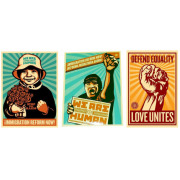 OBEY/Shepard Fairey�ʥ��٥��ˡ�We are human(Boy&Man)/Love Unites���ƥå���3�祻�å�